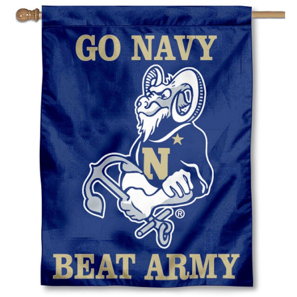 Go Navy Beat Army House Flag