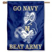 Go Navy Beat Army House Flag