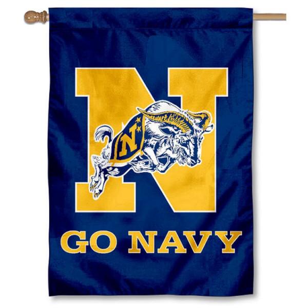 Go Navy House Flag