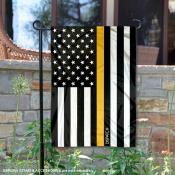 Gold Thin Line Dispatch Yard Garden Banner