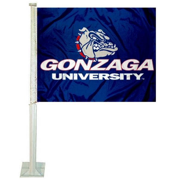 Gonzaga Bulldogs Blue Car Flag