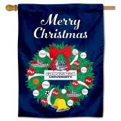 Gonzaga Bulldogs Christmas Holiday House Flag