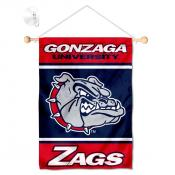 Gonzaga Bulldogs Window Hanging Banner with Suction Cup