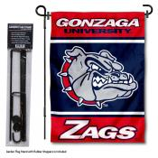 Gonzaga University Garden Flag and Yard Pole Holder Set