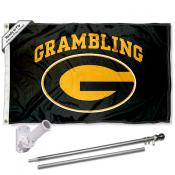 GSU Tigers Flag and Bracket Flagpole Kit