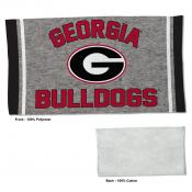Gym Yoga Fitness Towel for UGA Bulldogs