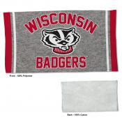 Gym Yoga Fitness Towel for UW Badgers