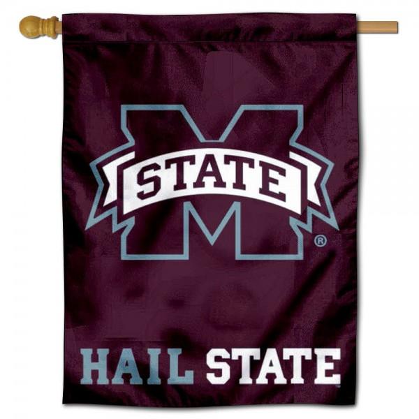 Hail State MSU Bulldogs House Flag