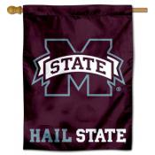 Hail State MSU Bulldogs House Flag