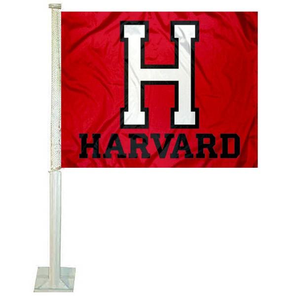 Harvard Crimson Car Flag