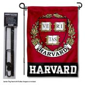 Harvard Crimson Garden Flag and Holder