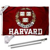 Harvard University Flag and Bracket Flagpole Kit