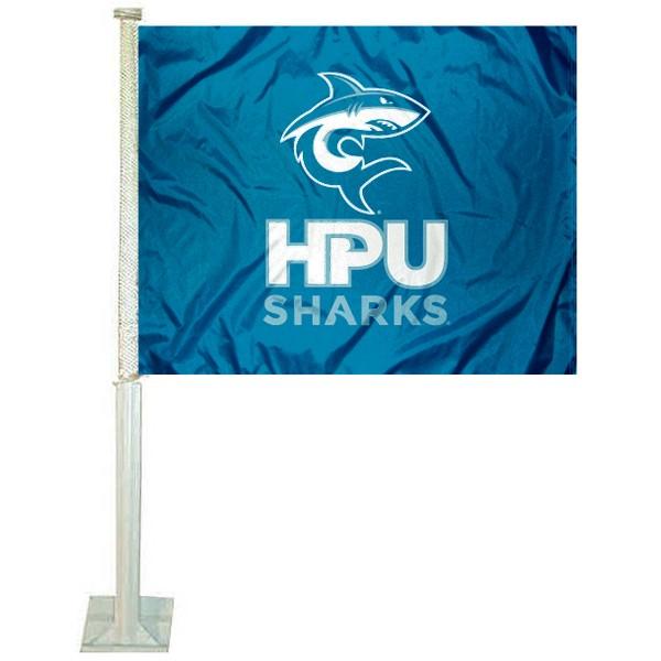 Hawaii Pacific Sharks Car Flag