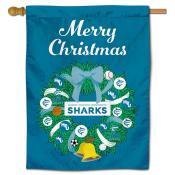 Hawaii Pacific Sharks Christmas Holiday House Flag
