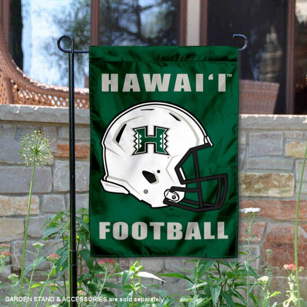 Hawaii Warriors Football Garden Flag
