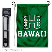 Hawaii Warriors Garden Flag and Yard Pole Holder Set