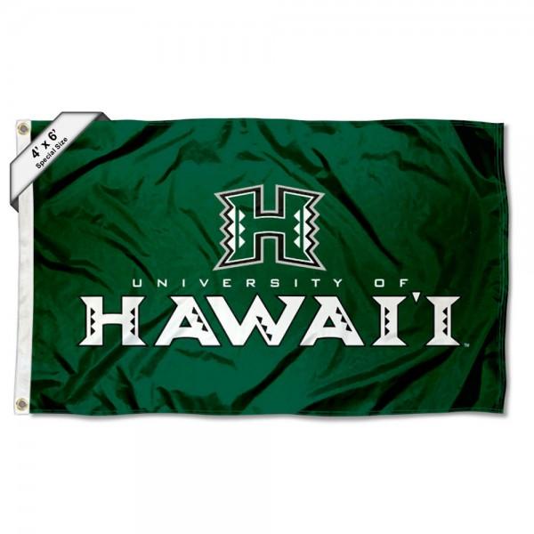 Hawaii Warriors Logo 4'x6' Flag