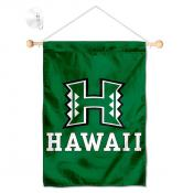 Hawaii Warriors Window Hanging Banner with Suction Cup