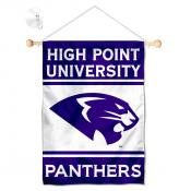 High Point Panthers Window Hanging Banner with Suction Cup