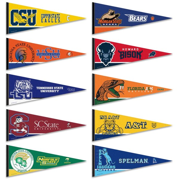 Historically Black Colleges Pennant Set Your Historically