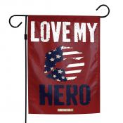 Homefront Girl Love My Hero Yard Garden Banner