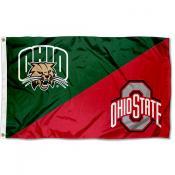 House Divided Flag - Bobcats vs Buckeyes