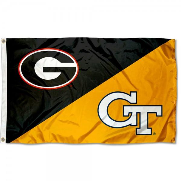 House Divided Flag - Bulldogs vs. Yellow Jackets