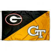 House Divided Flag - Bulldogs vs. Yellow Jackets