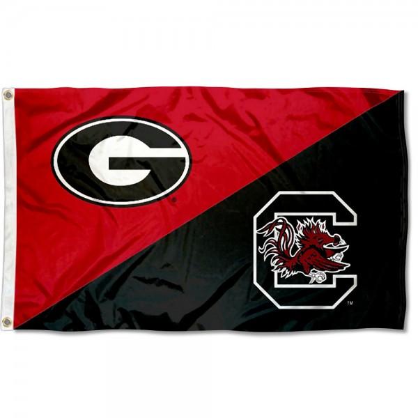House Divided Flag - Bulldogs vs Gamecocks