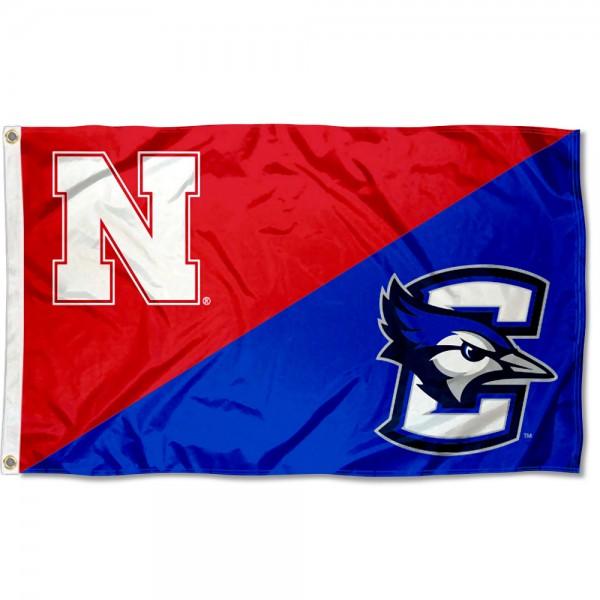 House Divided Flag - Cornhuskers vs. Creighton Jays