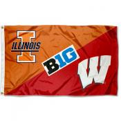 House Divided Flag - Fighting Illini vs. Badgers