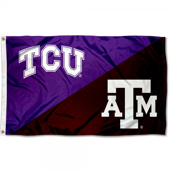 House Divided Flag - Horned Frogs vs Aggies