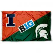 House Divided Flag - Illinois vs. Michigan State