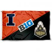 House Divided Flag - Illinois vs. Purdue
