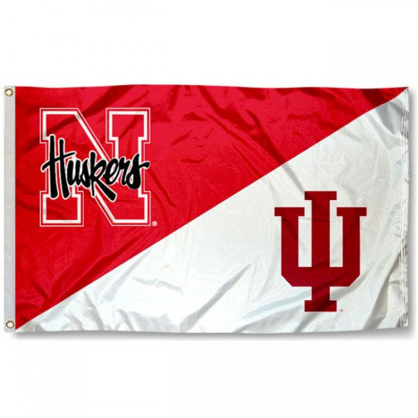 House Divided Flag - Indiana vs. Nebraska