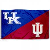 House Divided Flag - IU Hoosiers vs. UK Wildcats
