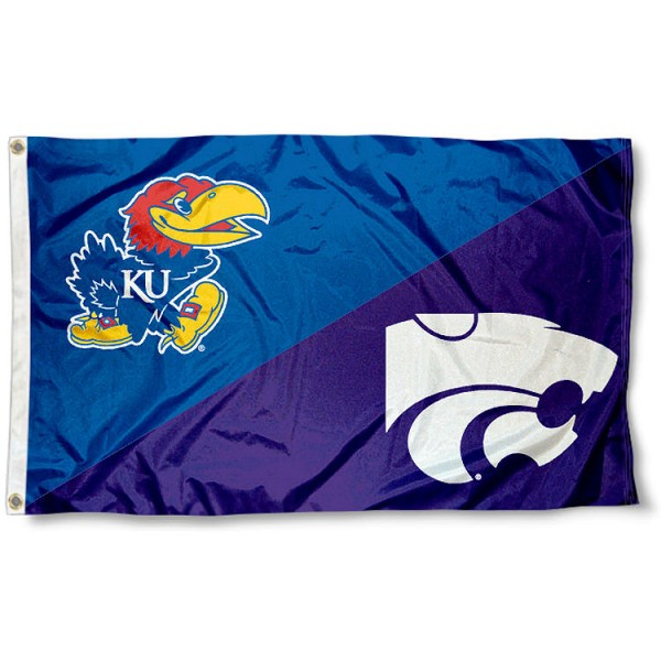 House Divided Flag - Kansas vs. K-State
