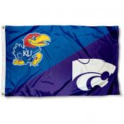 House Divided Flag - KSU Wildcats vs. Jayhawks