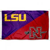 House Divided Flag - LSU Tigers vs Nicholls State University