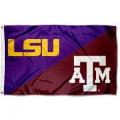 House Divided Flag - LSU Tigers vs Texas AM Aggies