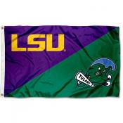 House Divided Flag - LSU Tigers vs Tulane