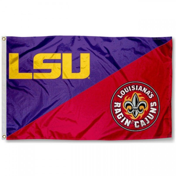 House Divided Flag - LSU vs. ULL