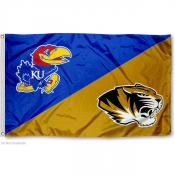 House Divided Flag - Mizzou vs. Jayhawks