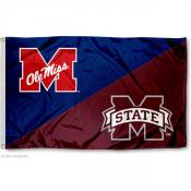 House Divided Flag - MSU Bulldogs and UM Rebels
