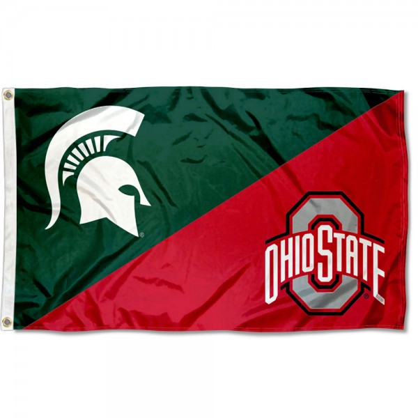 Michigan State House Divided 3x5 Flag College Flags and Banners Co Michigan vs