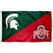 House Divided Flag - MSU Spartans vs OSU Buckeyes