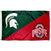 House Divided Flag - MSU Spartans vs OSU Buckeyes
