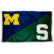 House Divided Flag - MSU vs. UM