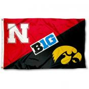 House Divided Flag - Nebraska vs. Iowa