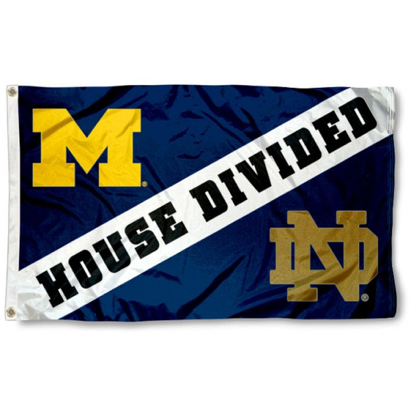 House Divided Flag - Notre Dame vs. Michigan